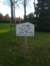 'No water, except for here'.